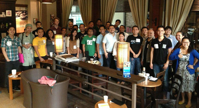 Fellow Entrepreneurs at the JGP Open Coffee Meet Up last Feb. 9, 2013